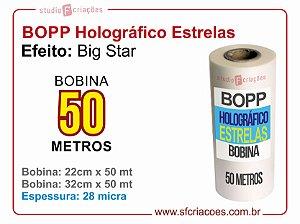 BOPP Holográfico BIG STAR (Estrelas)