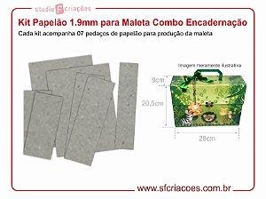 Kit Papelão 1.9mm para Maleta 28x20,5x9cm (Combo Encadernação)