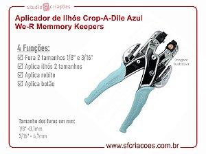 Aplicador de Ilhós Crop-A-Dile Azul We R Memmory Keepers