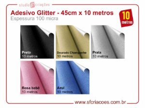 Adesivo Glitter - 45cm x 10 metros