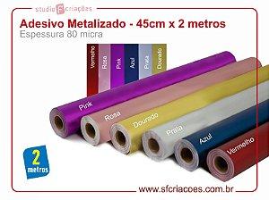Adesivo Metalizado - 45cm x 2 metros