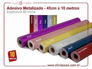 Adesivo Metalizado - 45cm x 10 metros