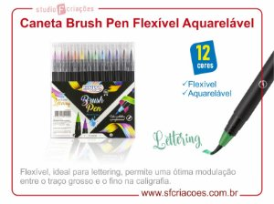 Caneta Brush Pen Aquarelável