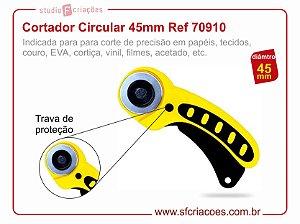 Cortador Circular Amarelo 45mm - 70910