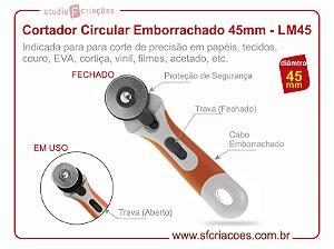Cortador Circular Emborrachado 45mm - LM-45
