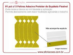 01 pct c/ 5 Feltros Adesivos Protetor de Espátula - Feltro para Espátula