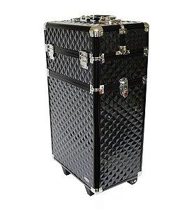 Maleta Profissional com Rodinhas 2 Andares Ruby's FS-1201M - Black