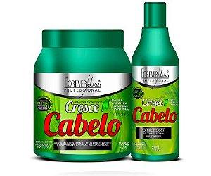 Kit Cresce Cabelo Shampoo 500ml e Máscara 1k - Forever Liss