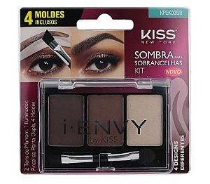 Kit de Sombra para Sobrancelhas com 4 Moldes Inclusos - Kiss NY