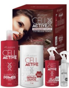 Kit Cell Active Reparação Capilar com Células Tronco All Nature