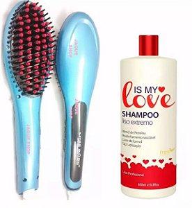 Shampoo Is My Love 500ml + Escova Eletrica Alisadora