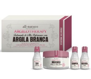 All Nature Kit Argila Branca Argilotherapy Completo