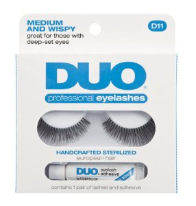 Duo Medium and Wispy Cílios Postiços Com Cola 2,5g D11