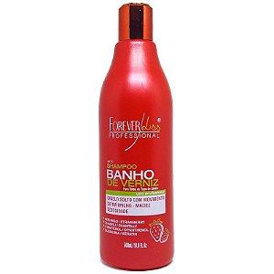 Shampoo Banho de Verniz Morango  500ml Forever Liss