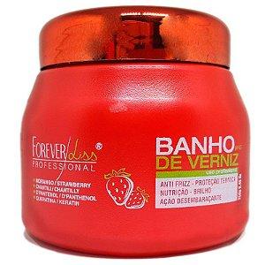 Máscara Banho de Verniz Morango Brilho Extremo 250g - Forever Liss