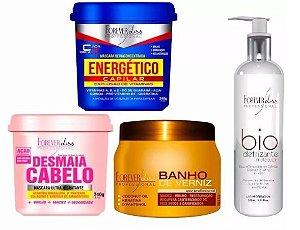 Kit Energético Desmaia Banho Verniz Biodefrizante  Forever