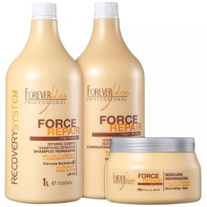 Kit Force Repair  Reconstrução 2x1 Litro + 500g Forever Liss