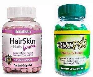 Crecepelo + Hair Skin Cabelos E Unhas 150 Capsulas