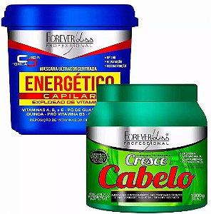 Forever Liss Energético Capilar 950g + Cresce Cabelo 1kg