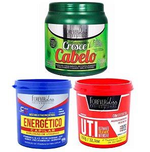 kit Energético Capilar 950g Cresce Cabelo 1kg Uti 950g Forever liss