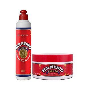 Shampoo e Máscara Fortalecimento Fermento Capilar All Nature