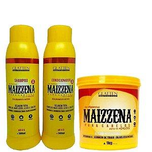 Kit Maizzena Alisamento Natural com Máscara de 1kg Glatten