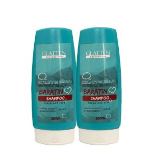 Glatten Babosa Baratin Kit com Shampoo e Condicionador