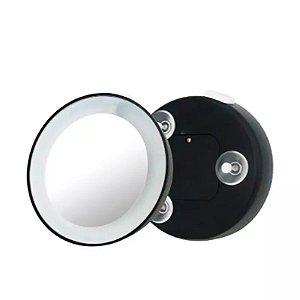 Klass Vough Espelho de Aumento 15x com Ventosa e Luz