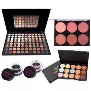 Miss Rose Kit Sombras Blush N2 Corretivo E Brinde