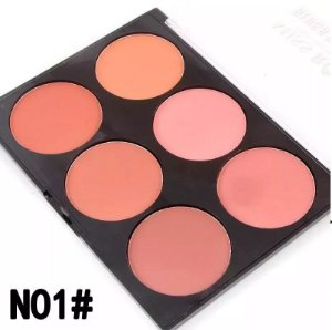 Miss Rose Paleta Blush Glow Kit 6 Cores Modelo N1