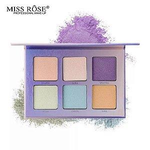 Miss Rose Glow Kit Aurora Paleta Iluminador 6 Cores