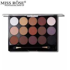 Miss Rose Paleta de Sombras Nude Mate 15 Cores 077 NY 02