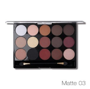 Miss Rose Paleta de Sombras Nude Mate 15 Cores 077 NY 3