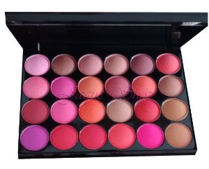 Paleta de blush com 24 cores