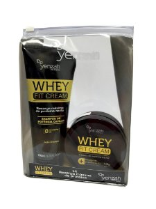 Kit Shampoo 200ml e Máscara Reconstrutora Whey Fit Cream 100g - Yenzah
