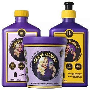 Lola Cosmetics Loira de Farmácia Kit matizador 3 produtos