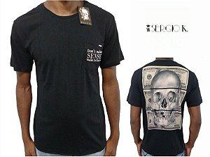 Camiseta Sergio K Make Dollars Caveira Preto - Original