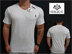 Camiseta Sergio K Básica Gola V Mescla - Original