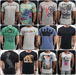 Camisetas Originais Atacado 10 peças  (Sergio k , Calvin Klein, Oskley e Reserva)