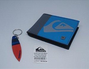 Carteira Quiksilver Importada - Azul com Cinza