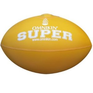 Bola SUPER rugby / futebol americano AMARELA
