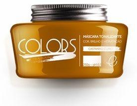 Portier Colors Matizador Hidratante Castanho Claro 250gr Fine Cosméticos