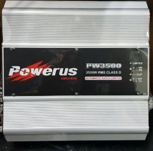 Amplificador Powerus PW3500 BLACK 4740 Watts RMS - Classe D