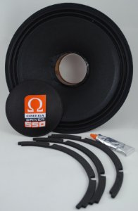 Kit Reparo Woofer Omega Driver 550 12 Pol 550 Watts RMS