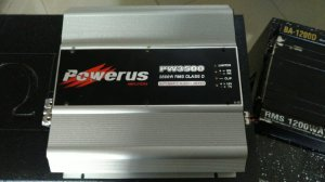 Amplificador Powerus PW3500 0.5 Ohm - SEMINOVO