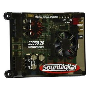Amplificador SounDigital SD250.2 NANO 250 Watts RMS 2 Canais