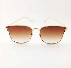 Óculos Quadrado Marrom Degradê (Cód 171oc)
