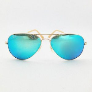 Óculos Aviador Azul Espelhado com Armação Fosca (Cód 149oc)
