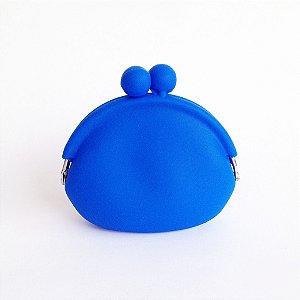 Porta Moedas de Silicone Azul Bic