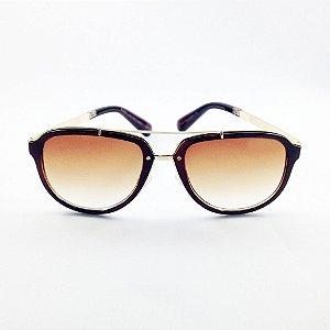 Óculos Marrom com Dourado (Cód 137oc)